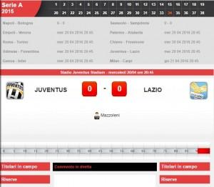 Juventus-Lazio: diretta live serie A su Blitz