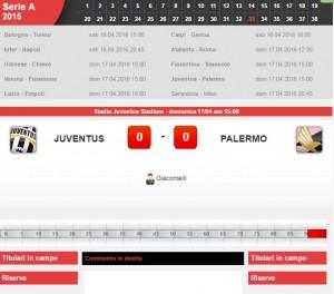 Juventus-Palermo: diretta live serie A su Blitz. Formazioni