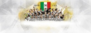 Guarda la versione ingrandita di Scudetto Juventus: su maglia giocatori titoli sono '34'