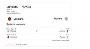 Lanciano-Novara, streaming-diretta tv: dove vedere Serie B