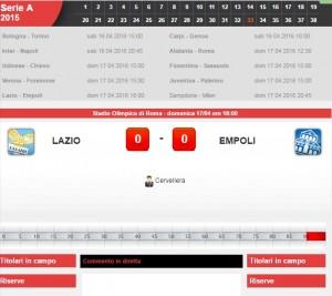 Lazio-Empoli: diretta live serie A su Blitz. Formazioni