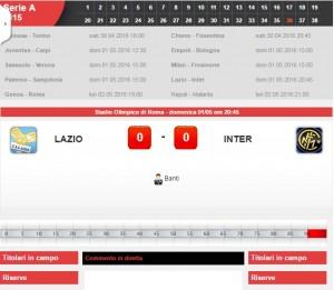 Lazio-Inter: diretta live serie A su Blitz