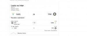 Lazio-Inter, streaming-diretta tv: dove vedere Serie A