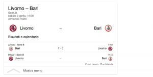 Livorno-Bari, streaming-diretta tv: dove vedere Serie B
