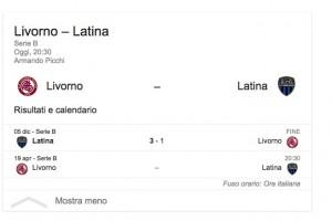 Livorno-Latina, streaming-diretta tv: dove vedere Serie B