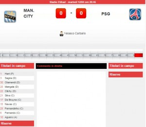 Manchester City-Psg: diretta live quarti Champions su Blitz