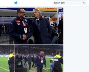 "Mancini irritato: ""Sarri? Cinquanta foto su stretta di mano"""
