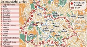 Guarda la versione ingrandita di Ztl Roma, arrivano altri 21 varchi ma... Mappa