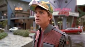 """Michael J. Fox in una scena di """"Ritorno al futuro"""""""