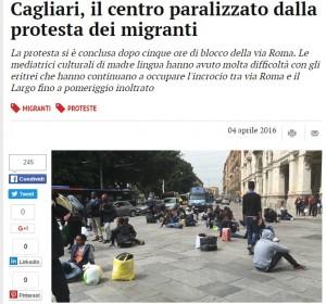 Somali e eritrei bloccano Cagliari: Fateci lasciare Sardegna