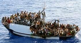 Guarda la versione ingrandita di Migranti libici nel Mediterraneo