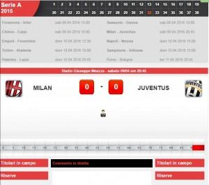Milan-Juventus: diretta live serie a su Blitz. Formazioni