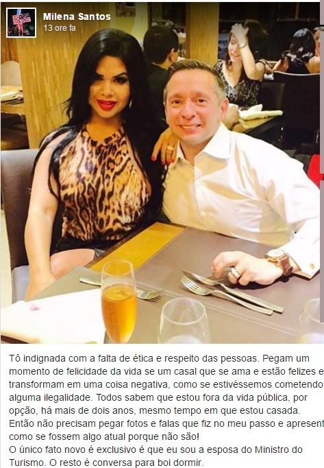 Miss Bumbum moglie ministro Brasile
