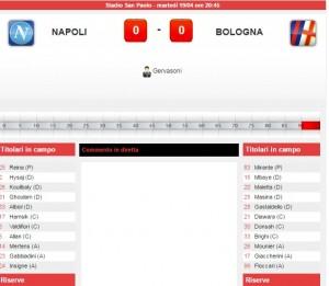 Napoli-Bologna: diretta live serie A su Blitz