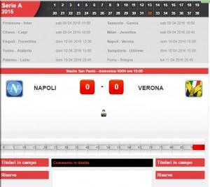Napoli-Verona: diretta live serie A su Blitz. Formazioni