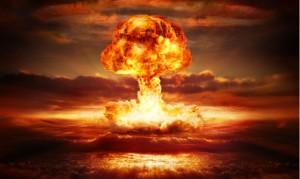 Un fungo atomico che si forma dopo un'esplosione nucleare