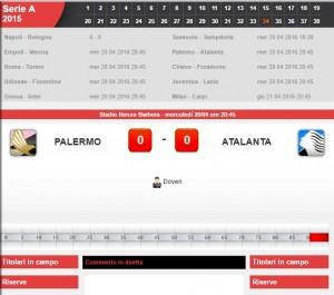 Palermo-Atalanta: diretta live serie A su Blitz