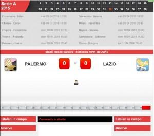 Palermo-Lazio: diretta live serie A su Blitz. Formazioni