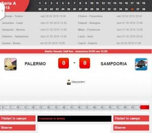 Palermo-Sampdoria: diretta live serie A su Blitz