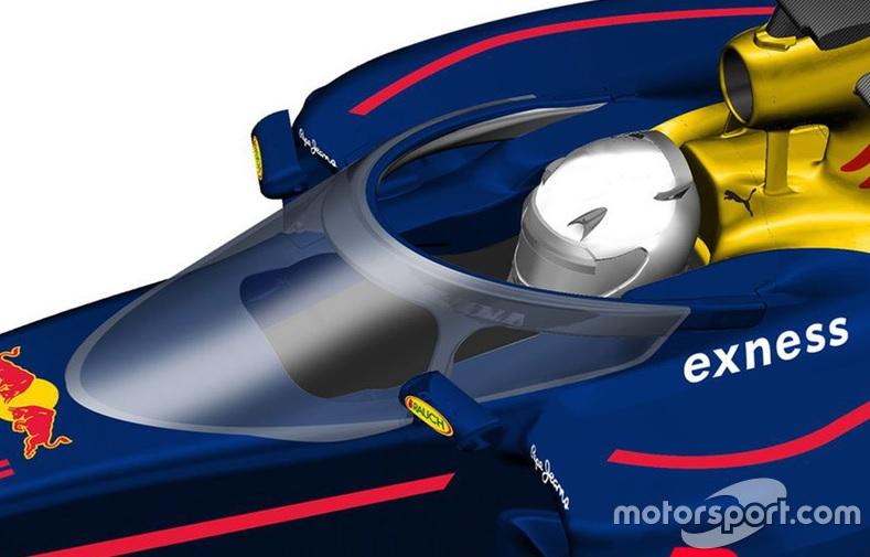 Formula 1, la Red Bull testa il parabrezza 02