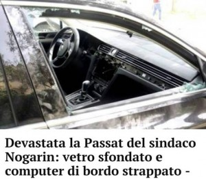 """Guarda la versione ingrandita di Livorno, danni auto sindaco M5s Nogarin: """"Non mi fermerete"""""""
