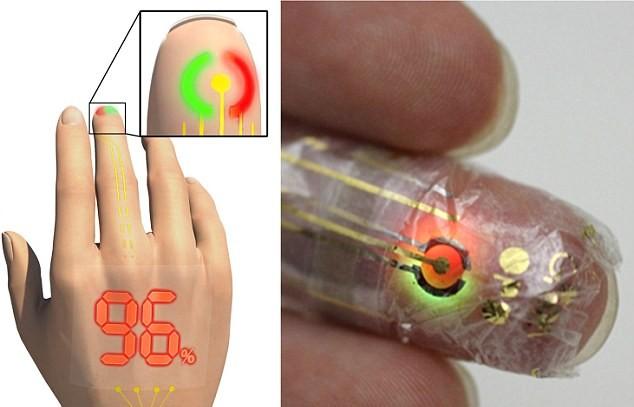 E-skin, pelle elettronica: corpo diventa display luminoso 3