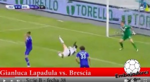 YouTube, Pescara-Brescia 2-1: highlights Gianluca Lapadula