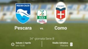 Pescara-Como streaming-diretta tv, dove vedere Serie B