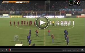 Pisa-Pontedera Sportube: streaming diretta live