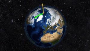 Polo Nord cambia direzione, ora si muove verso Londra