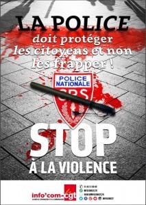Francia, manganello e sangue: manifesto choc contro polizia