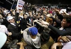 La protesta contro Trump