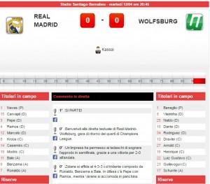 Real Madrid-Wolfsburg: diretta live quarti Champions League