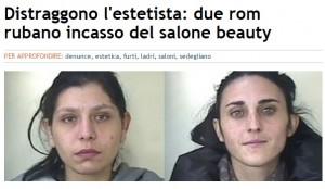 Guarda la versione ingrandita di Udine, blitz nel centro estetico: denunciate due rom