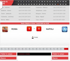 Roma-Napoli: diretta live serie A su Blitz