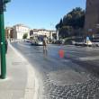 Roma, bus perde olio per 1 km15