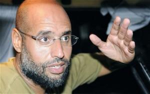 Saif Gheddafi, condannato a morte, vive con moglie e figlia