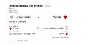 Salernitana-Vicenza, streaming-diretta tv: dove vedere Serie B