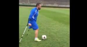 Salvatore La Manna, s*****o e bomber Italia senza una gamba
