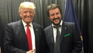 Guarda la versione ingrandita di Matteo Salvini incontra Donald Trump a Philadelphia (foto Ansa)