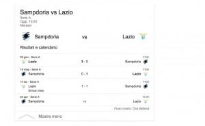 Sampdoria-Lazio, diretta. Formazioni ufficiali e video gol