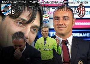 Sampdoria-Milan, diretta. Formazioni ufficiali e video gol