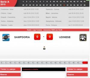 Sampdoria-Udinese: diretta live serie a su Blitz. Formazioni