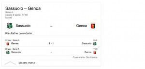 Sassuolo-Genoa streaming-diretta tv, dove vedere Serie A