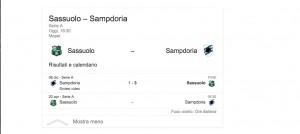 Sassuolo-Sampdoria, streaming-diretta tv: dove vedere Serie A