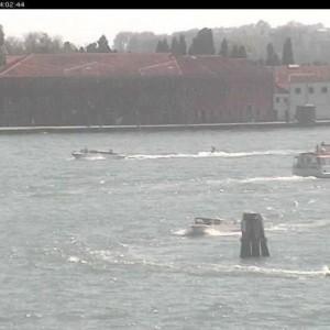 Guarda la versione ingrandita di Venezia, sci nautico alla Giudecca: beccato tassista FOTO