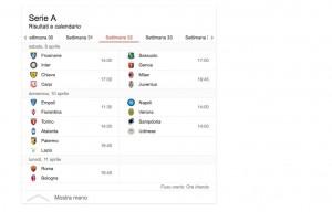 Guarda la versione ingrandita di Serie A, risultati in diretta 32esima giornata