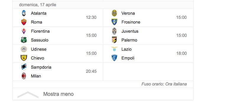 Serie A 33 giornata streaming diretta_6