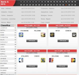 Guarda la versione ingrandita di Serie A: diretta live 35a giornata su Blitz