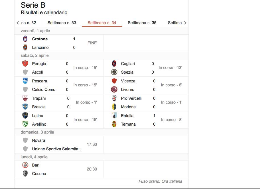 Serie B streaming diretta tv 34 giornata_7